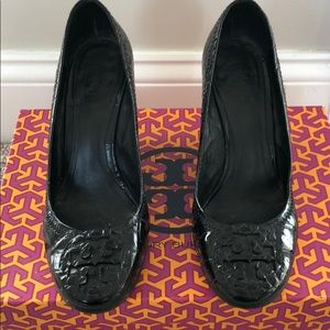 Tory Burch Black Wedges size 6